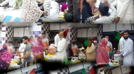 नई दिल्ली:पाॅपुलर फ्रंट कि ओर से त्रिलोकपुरी मे बांटा गया रमज़ान किट