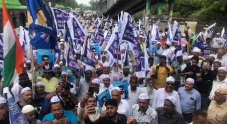 संत रविदास मंदिर को दोबारा से बनवाने के लिए मुस्लिम समुदाय आया आगे,किया शान्ति मार्च
