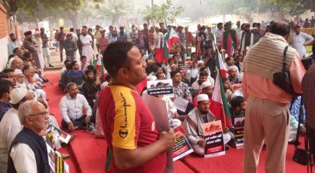 दिल्ली के जंतर मंतर पर PFI ने किया सुप्रीम कोर्ट के फैसले के विरोध में प्रदर्शन