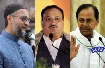 हैदराबाद निकाय  चुनाव में TRS आगे, ओवैसी की पार्टी AIMIM  दूसरे नंबर पर.वोटो की गिनती जारी .