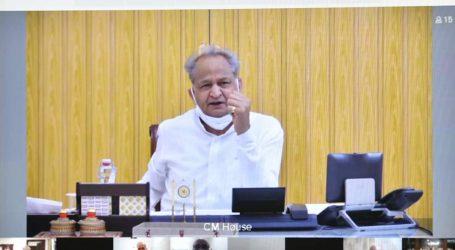 मुख्यमंत्री गहलोत ने प्रदेश के हालात पर वीडियो कांफ्रेंस से समीक्षा करके दिशा निर्देश दिये।