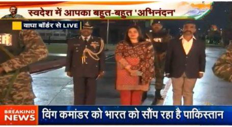 पाकिस्तान से भारत लौटे विंग कमांडर अभिनंदन,स्वागत में दीवाने हुए लोग